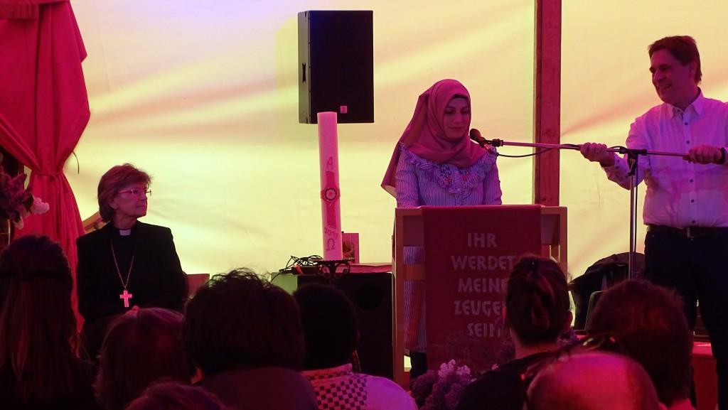 Grußwort der muslimischen Gemeinde, vertreten durch Frau Sümeyye Kahraman