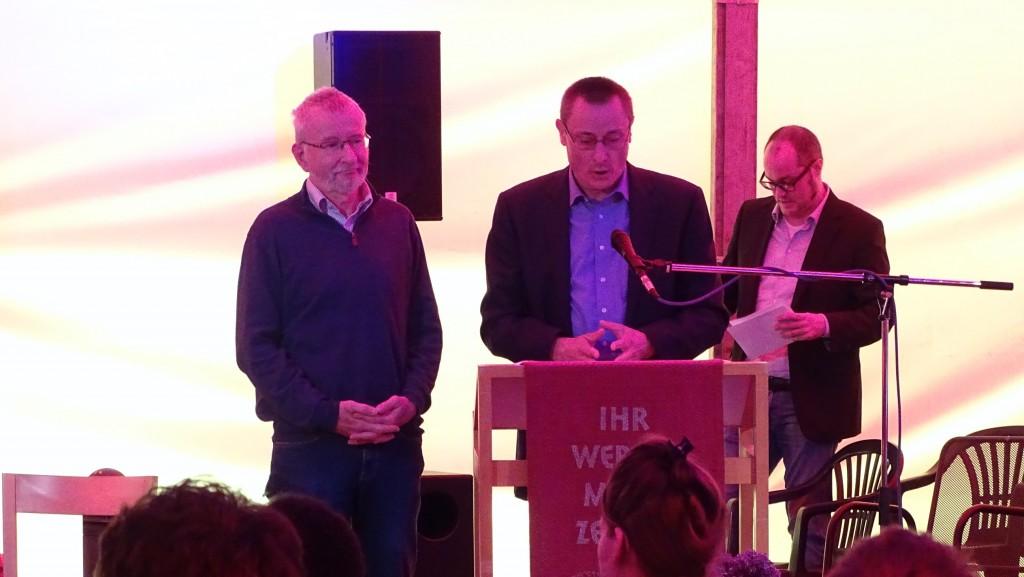 Klaus Werner Fries und Ulf Reinschmidt grüßen aus der Nachbargemeinde Schöllkrippen