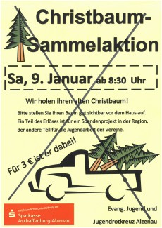 Absage Christbaum-Sammelaktion